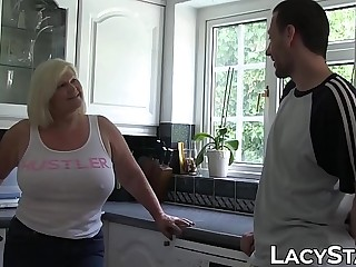 British GILF bent over and stuffed until facial time