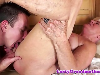 Finger penetrated gilf sucking big cock