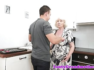 Chubby euro granny gets wooly pussy slammed