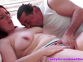 Busty gilf enjoys her cunt being drilled