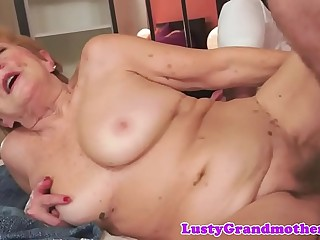 Fur covered grandmother pussyfucked with passion
