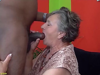 80 years old granny 1st interracial