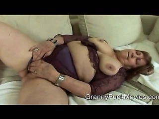 Dirty old granny wants to be a pornstar