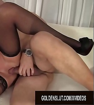 Older Ash-blonde Whore Crystal Taylor Spreads Her Legs for Cock